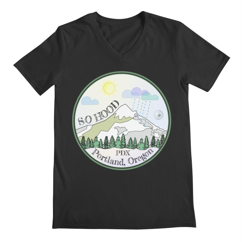 Mt. Hood [Day] Men's V-Neck by Northern Limit