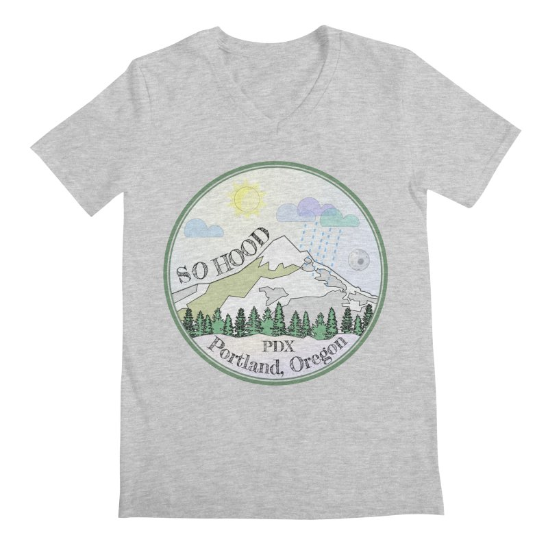 Mt. Hood [Day] Men's Regular V-Neck by Northern Limit