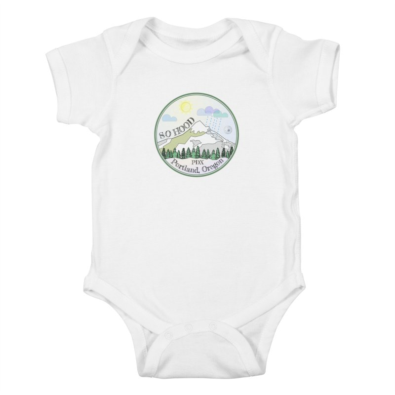 Mt. Hood [Day] Kids Baby Bodysuit by Northern Limit