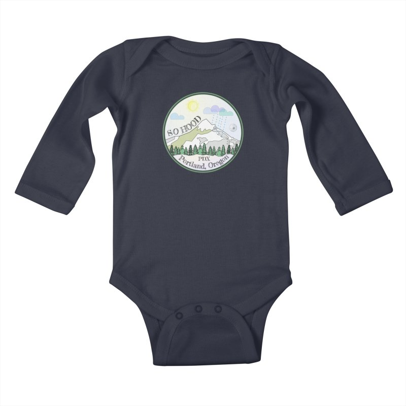 Mt. Hood [Day] Kids Baby Longsleeve Bodysuit by Northern Limit