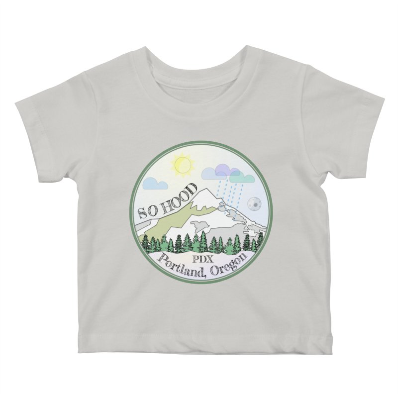 Mt. Hood [Day] Kids Baby T-Shirt by Northern Limit