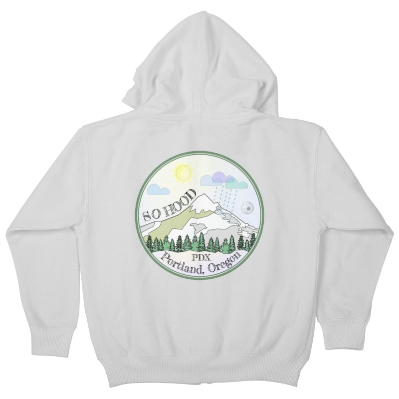 Mt. Hood [Day] Kids Zip-Up Hoody by Northern Limit