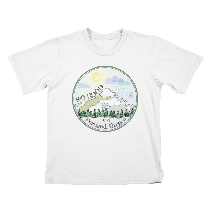 Mt. Hood [Day] Kids T-Shirt by Northern Limit
