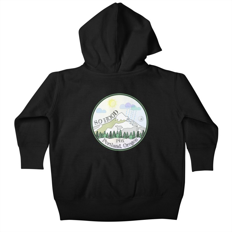 Mt. Hood [Day] Kids Baby Zip-Up Hoody by Northern Limit