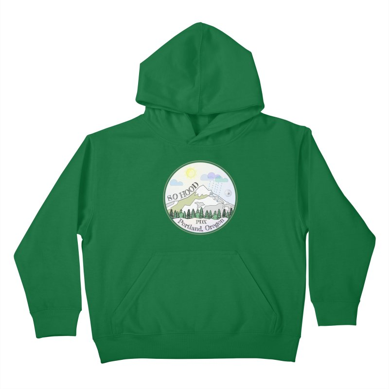 Mt. Hood [Day] Kids Pullover Hoody by Northern Limit
