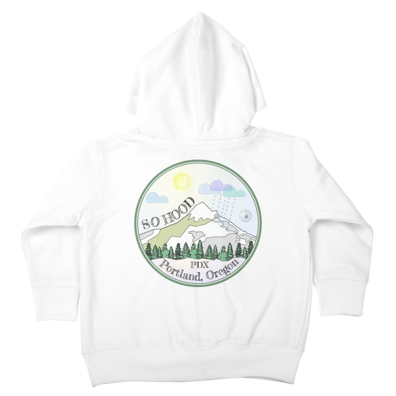 Mt. Hood [Day] Kids Toddler Zip-Up Hoody by Northern Limit