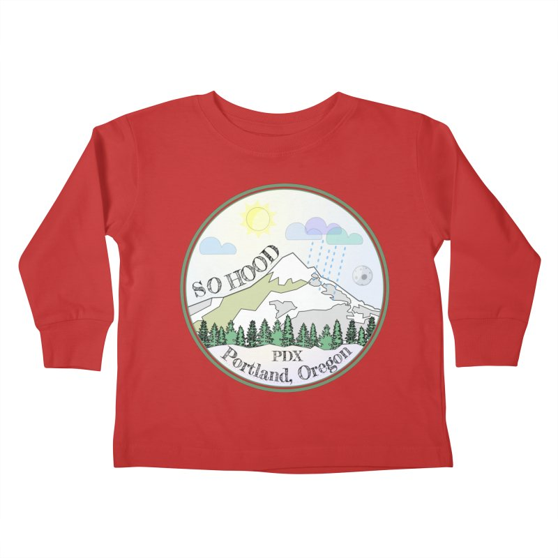 Mt. Hood [Day] Kids Toddler Longsleeve T-Shirt by Northern Limit