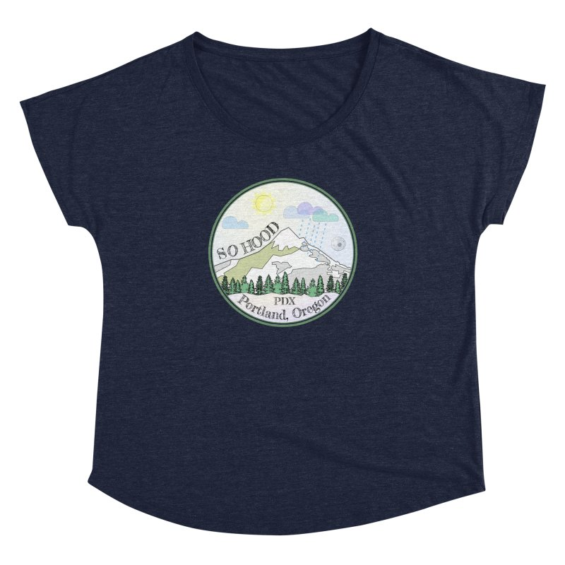 Mt. Hood [Day] Women's Dolman Scoop Neck by Northern Limit