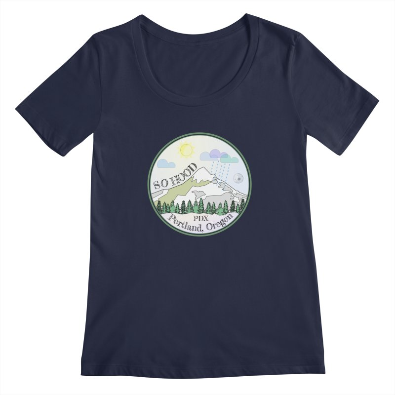 Mt. Hood [Day] Women's Scoopneck by Northern Limit