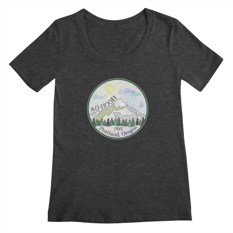 Mt. Hood [Day] Women's Regular Scoop Neck by Northern Limit