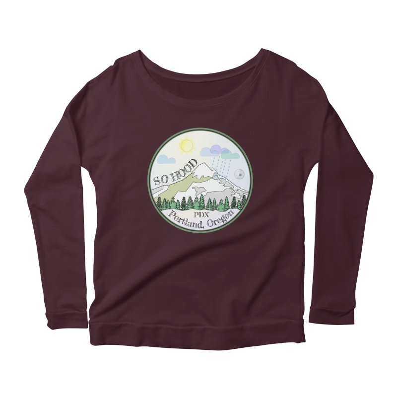Mt. Hood [Day] Women's Scoop Neck Longsleeve T-Shirt by Northern Limit