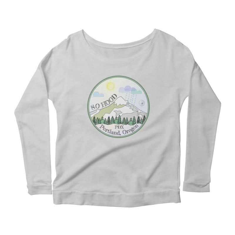Mt. Hood [Day] Women's Scoop Neck Longsleeve T-Shirt by Northern Limit
