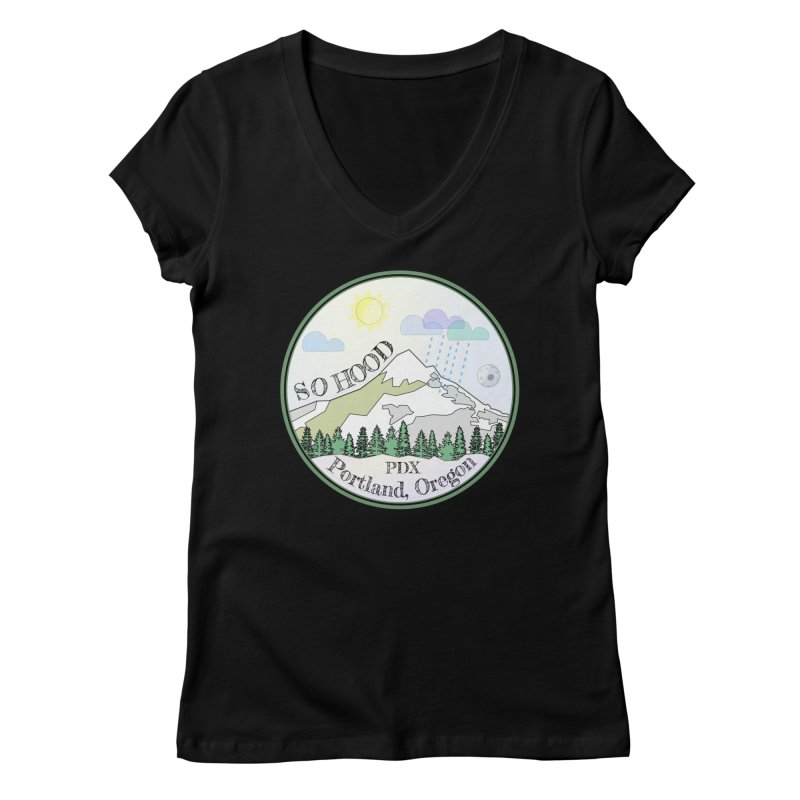 Mt. Hood [Day] Women's Regular V-Neck by Northern Limit