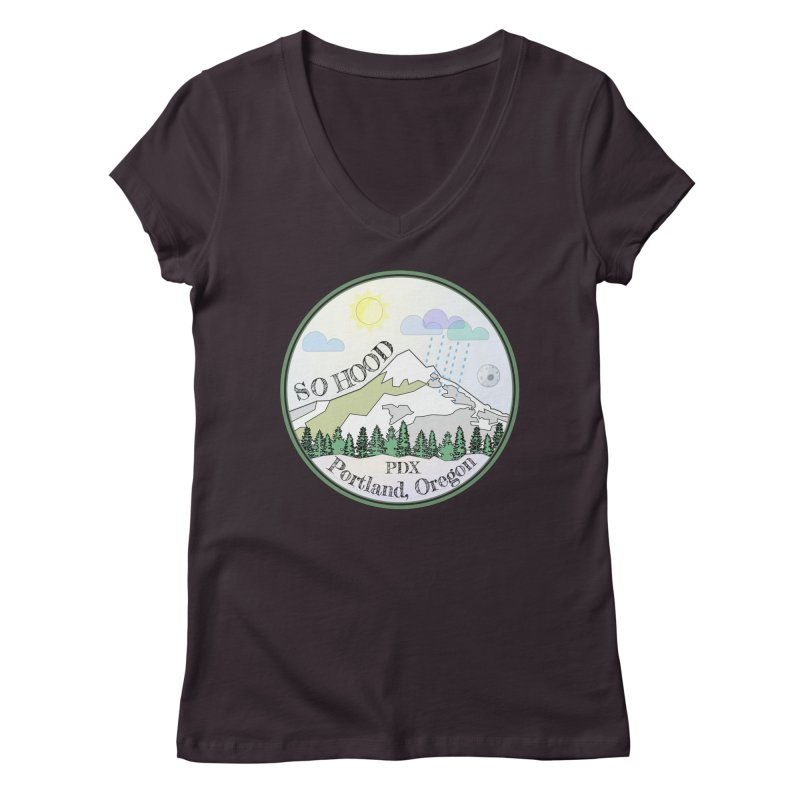 Mt. Hood [Day] Women's V-Neck by Northern Limit