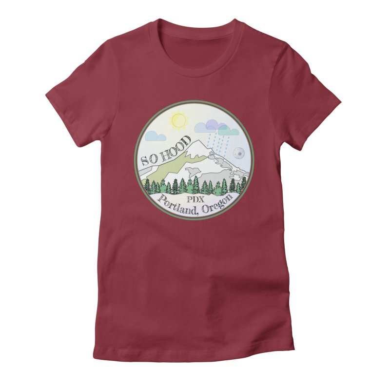 Mt. Hood [Day] Women's Fitted T-Shirt by Northern Limit