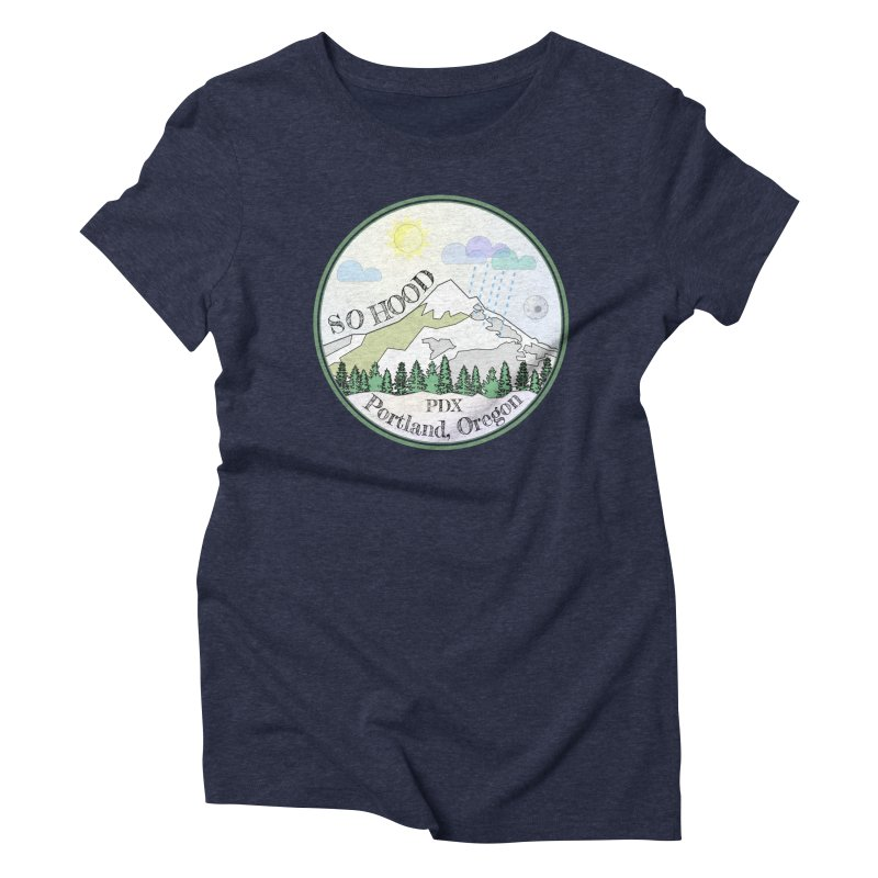 Mt. Hood [Day] Women's Triblend T-Shirt by Northern Limit