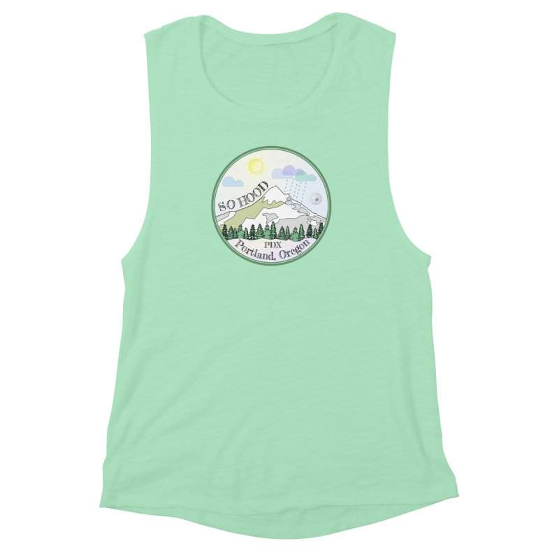 Mt. Hood [Day] Women's Muscle Tank by Northern Limit