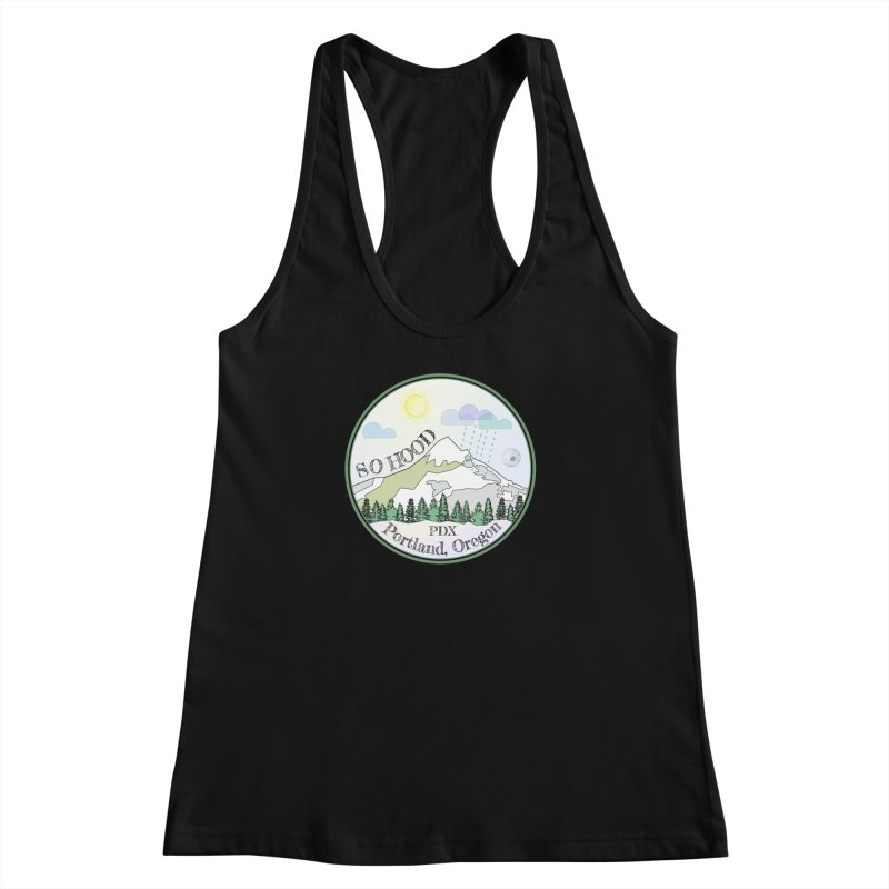 Mt. Hood [Day] Women's Racerback Tank by Northern Limit
