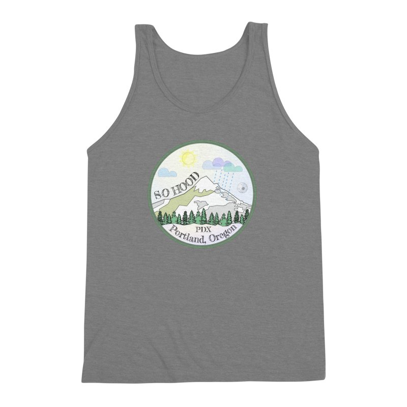 Mt. Hood [Day] Men's Triblend Tank by Northern Limit