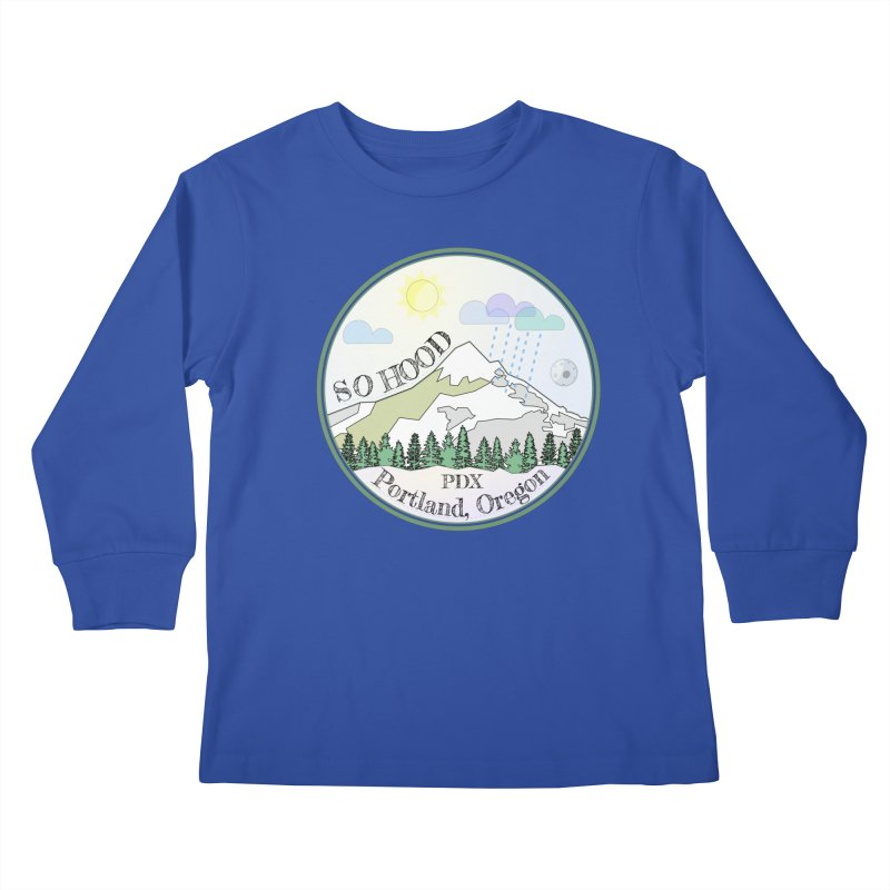 Mt. Hood [Day] Kids Longsleeve T-Shirt by Northern Limit