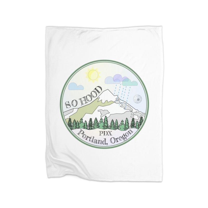 Mt. Hood [Day] Home Fleece Blanket Blanket by Northern Limit