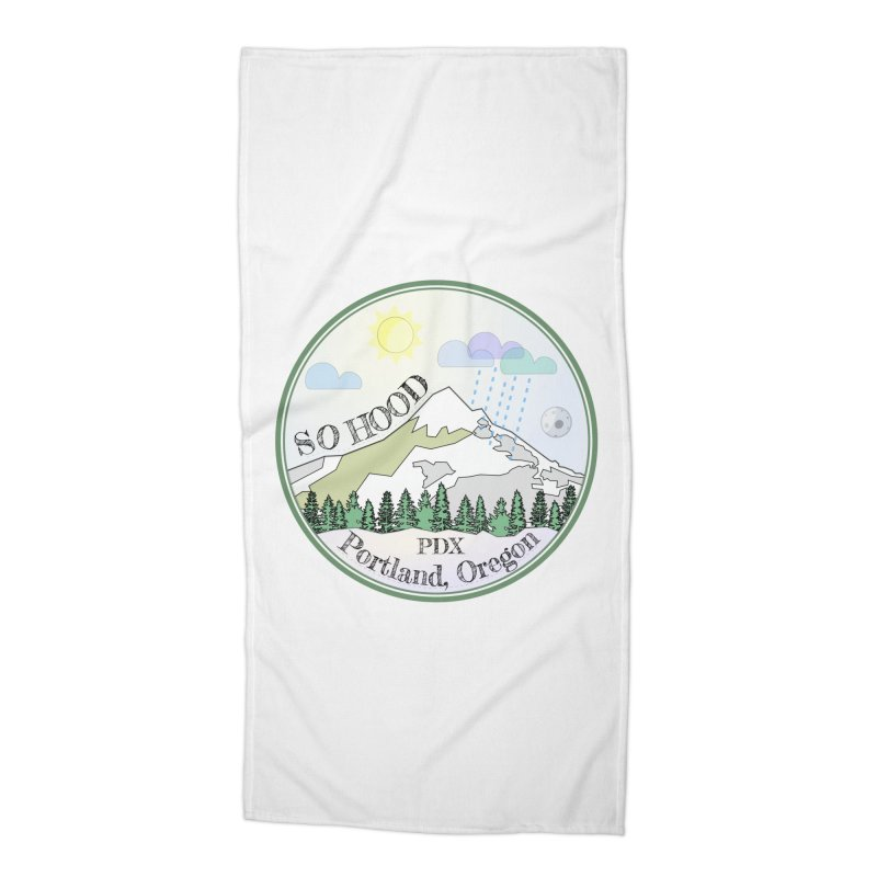 Mt. Hood [Day] Accessories Beach Towel by Northern Limit