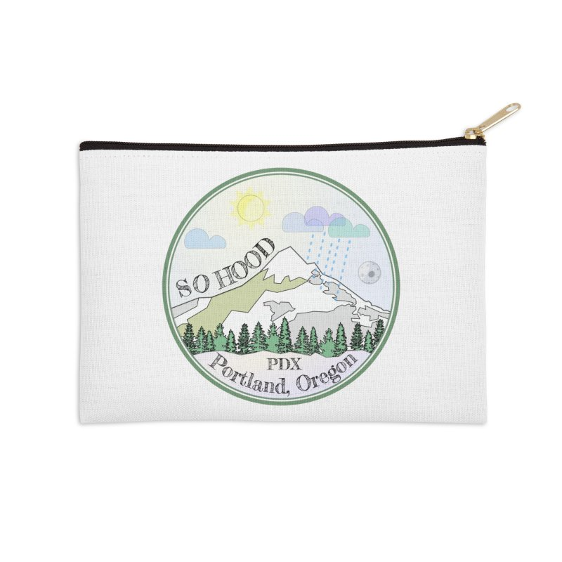 Mt. Hood [Day] Accessories Zip Pouch by Northern Limit