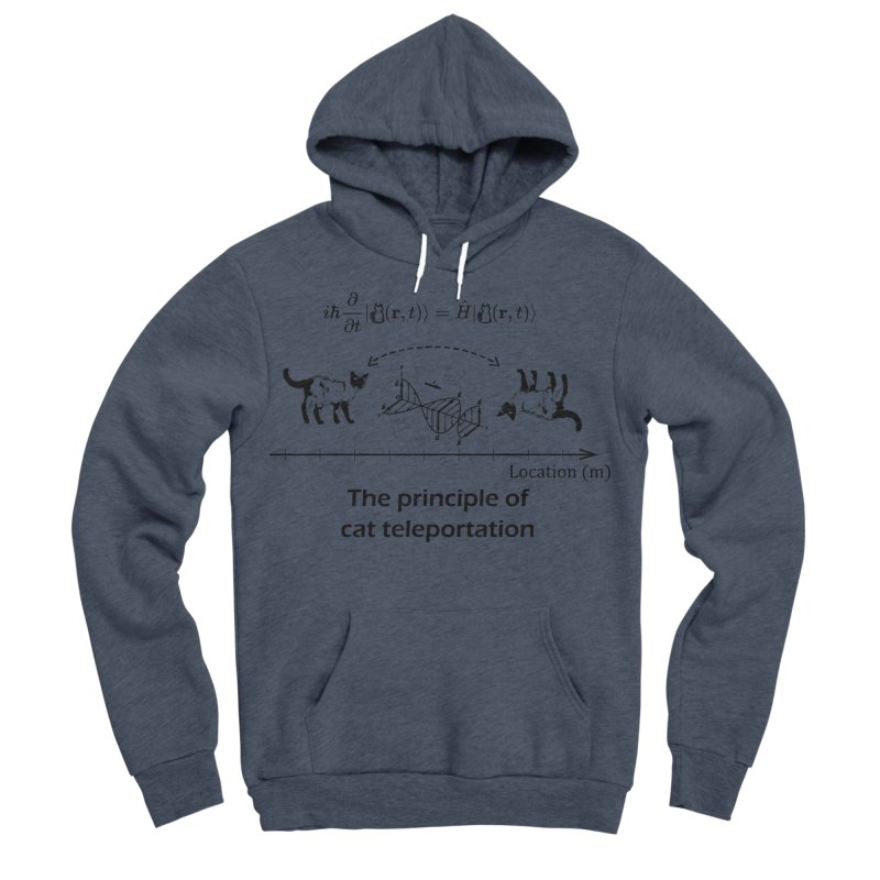The Principle of Cat Teleportation Women's Sponge Fleece Pullover Hoody by Northern Limit