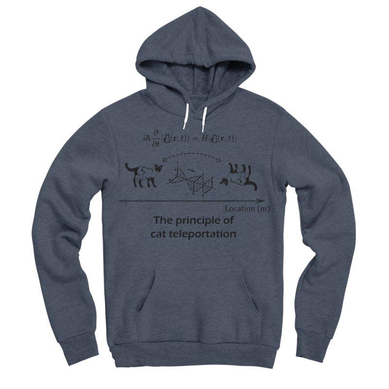 The Principle of Cat Teleportation Men's Sponge Fleece Pullover Hoody by Northern Limit