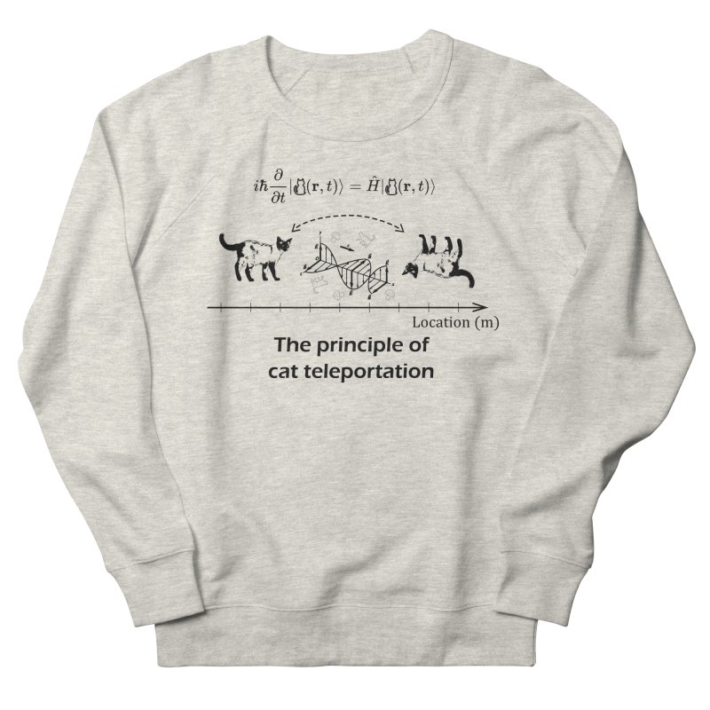 The Principle of Cat Teleportation Men's French Terry Sweatshirt by Northern Limit