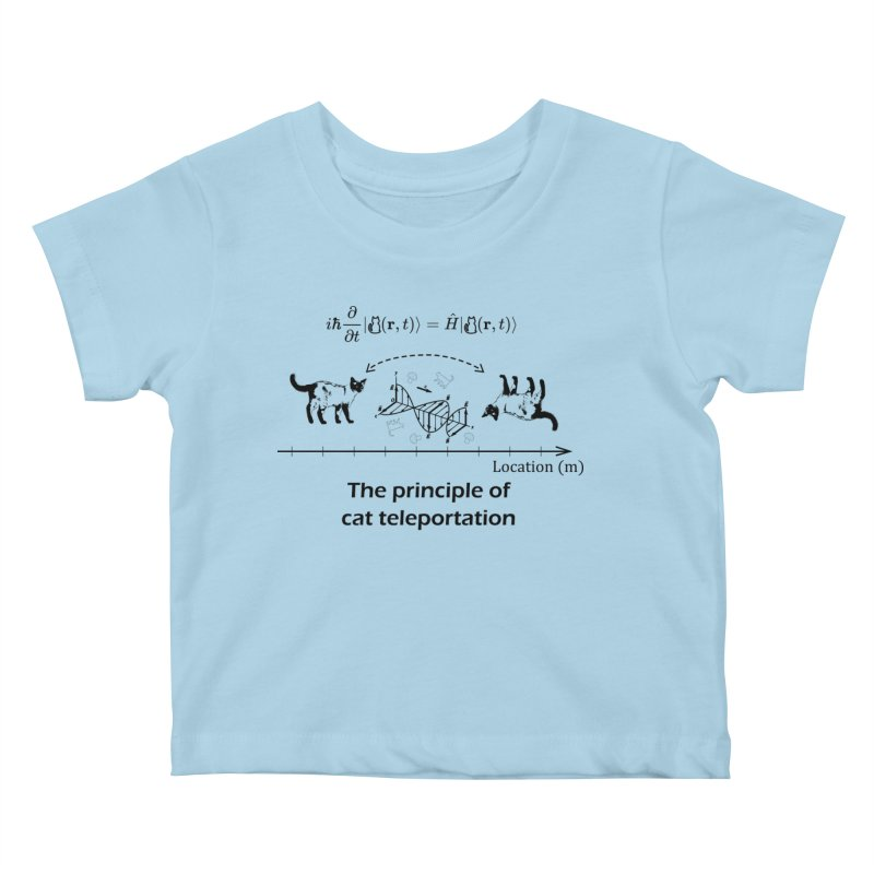 The Principle of Cat Teleportation Kids Baby T-Shirt by Northern Limit