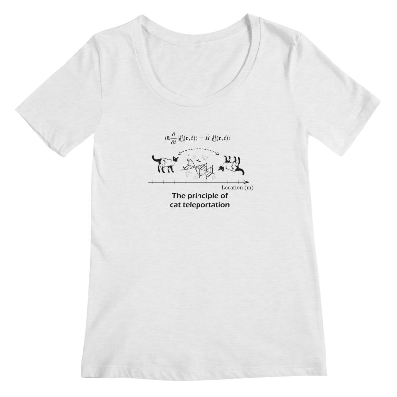 The Principle of Cat Teleportation Women's Regular Scoop Neck by Northern Limit