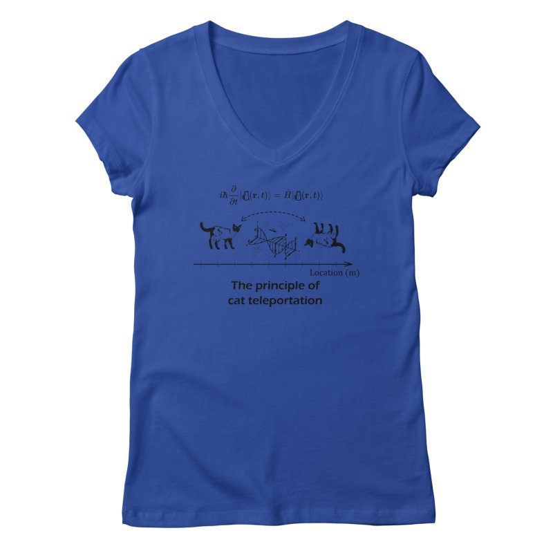 The Principle of Cat Teleportation Women's Regular V-Neck by Northern Limit