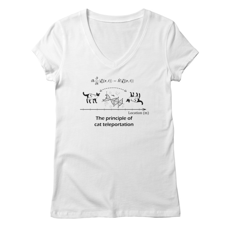 The Principle of Cat Teleportation Women's Regular V-Neck by Northern Limit