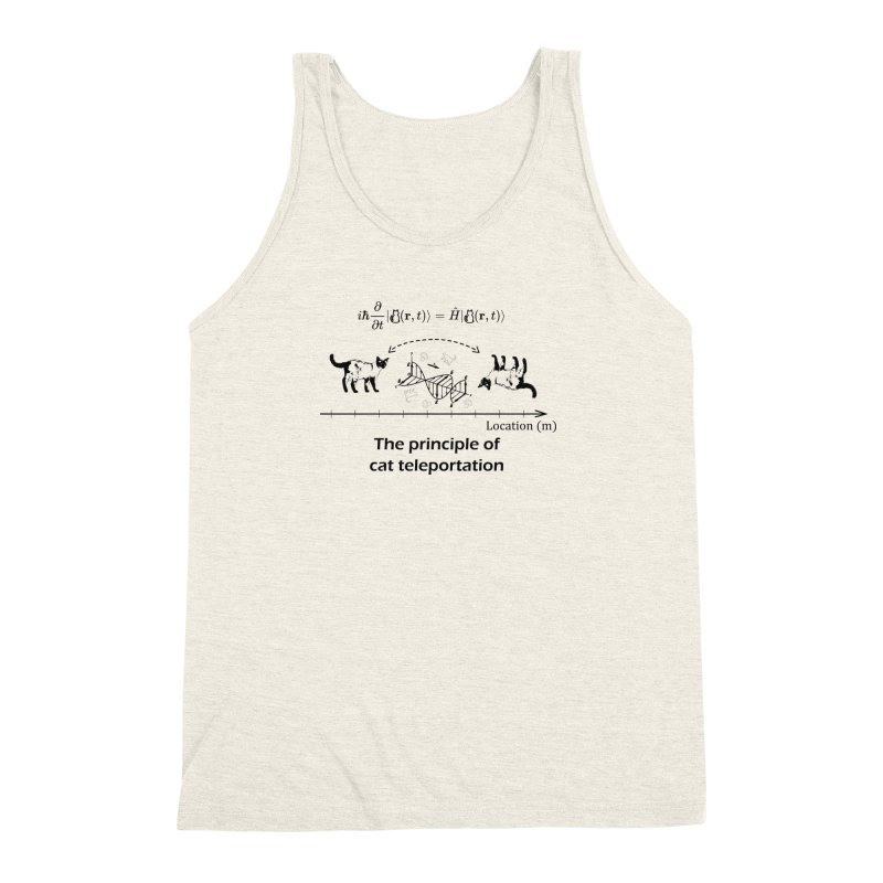 The Principle of Cat Teleportation Men's Triblend Tank by Northern Limit