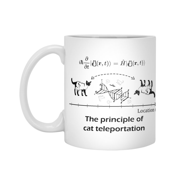 The Principle of Cat Teleportation Accessories Standard Mug by Northern Limit