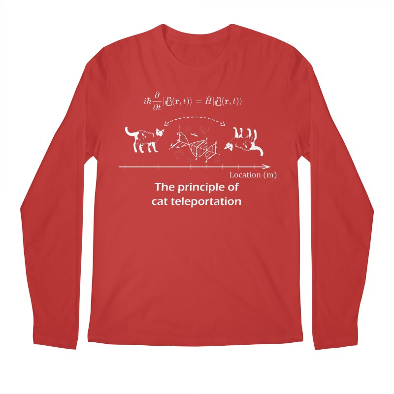 The Principle of Cat Teleportation Men's Regular Longsleeve T-Shirt by Northern Limit