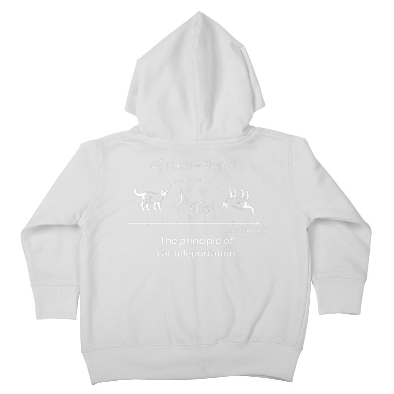 The Principle of Cat Teleportation Kids Toddler Zip-Up Hoody by Northern Limit