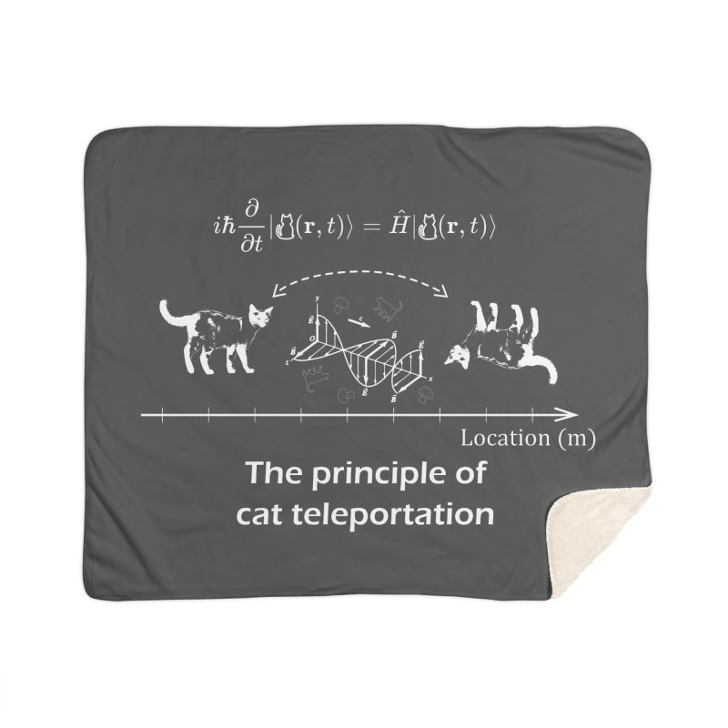 The Principle of Cat Teleportation Home Blanket by Northern Limit