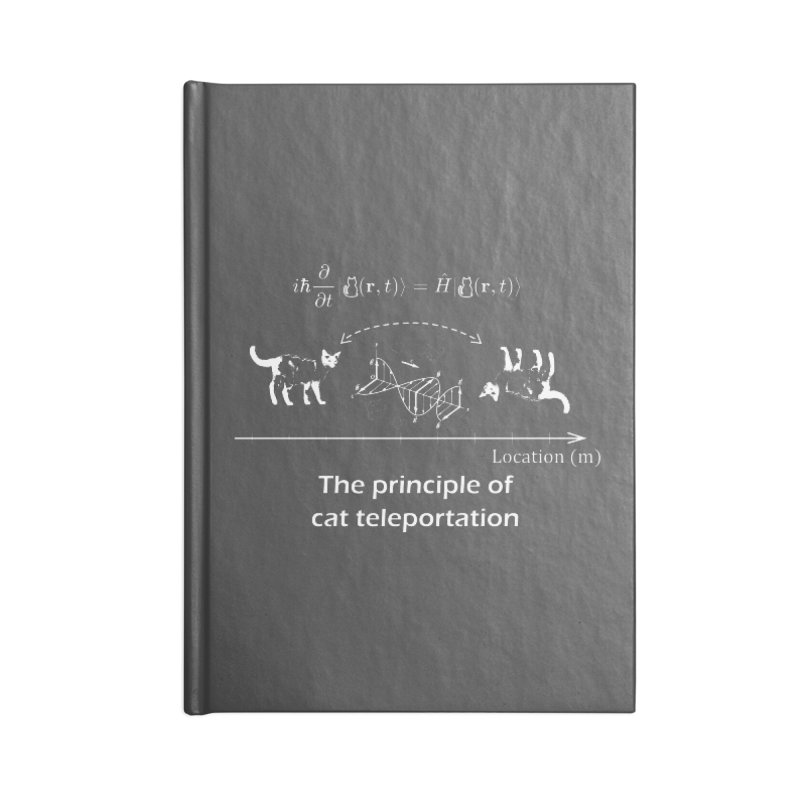 The Principle of Cat Teleportation Accessories Notebook by Northern Limit