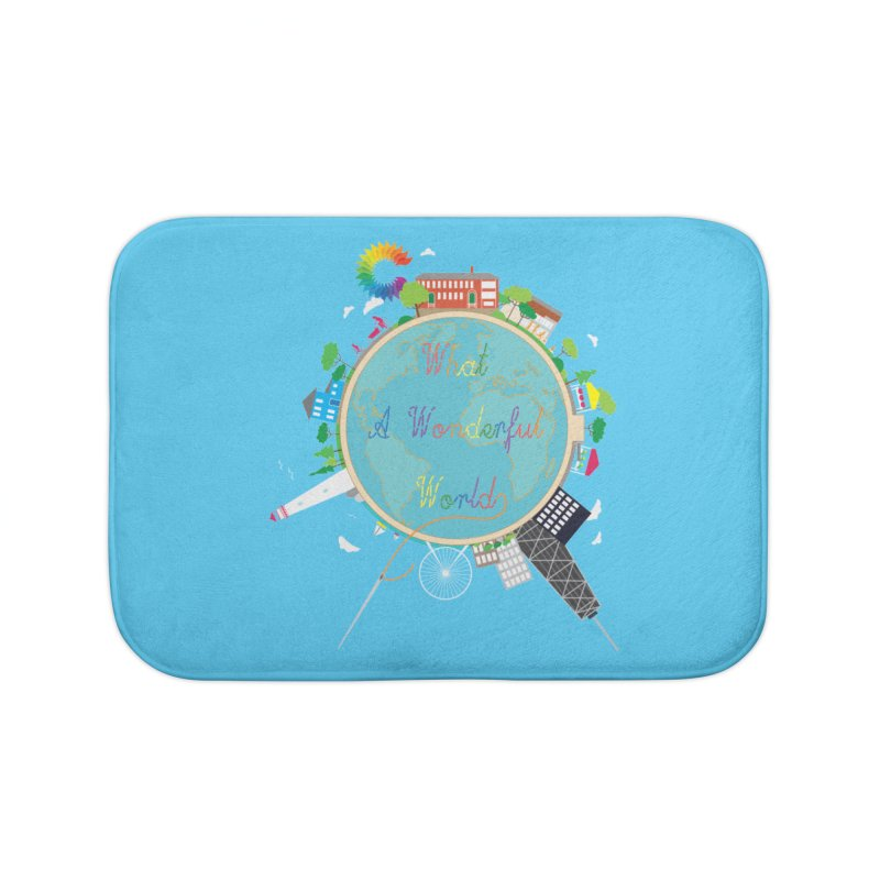 What A Wonderful World Home Bath Mat by Chiaravalle Montessori Spirit Shop