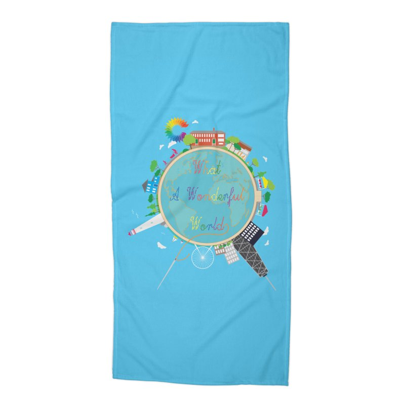 What A Wonderful World Accessories Beach Towel by Chiaravalle Montessori Spirit Shop