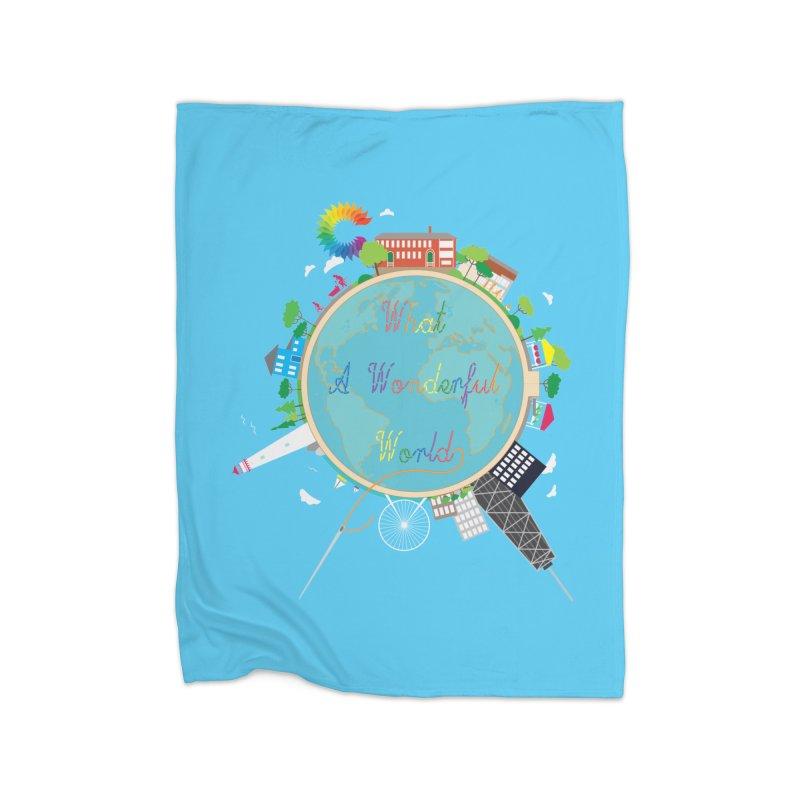 What A Wonderful World Home Blanket by Chiaravalle Montessori Spirit Shop