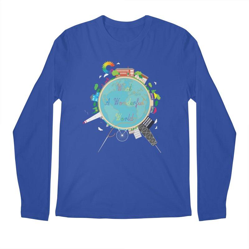 What A Wonderful World Men's Longsleeve T-Shirt by Chiaravalle Montessori Spirit Shop