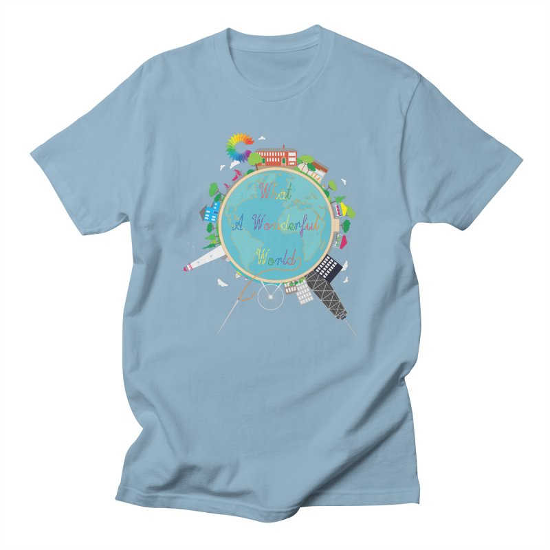 What A Wonderful World Men's T-Shirt by Chiaravalle Montessori Spirit Shop
