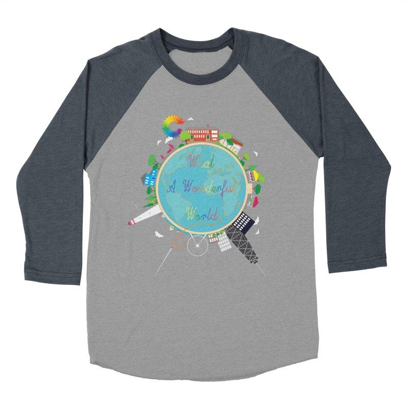 What A Wonderful World Women's Baseball Triblend T-Shirt by Chiaravalle Montessori Spirit Shop