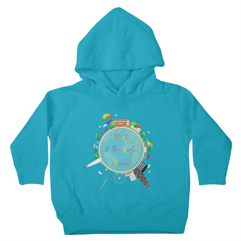 What A Wonderful World Kids Toddler Pullover Hoody by Chiaravalle Montessori Spirit Shop