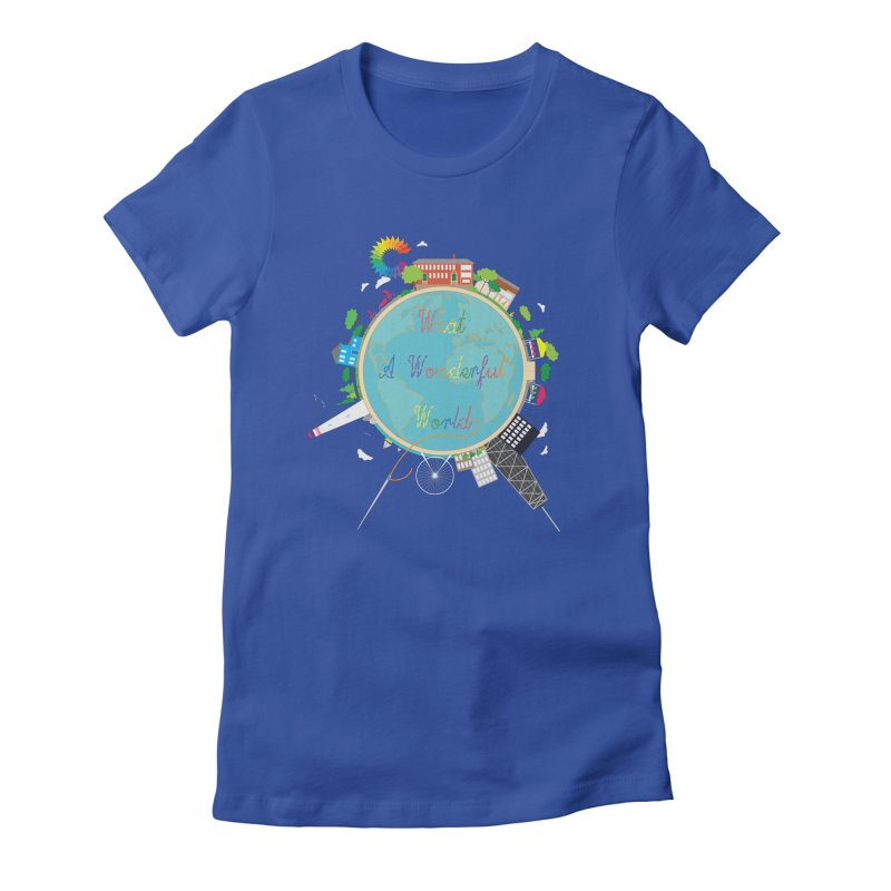 What A Wonderful World Women's Fitted T-Shirt by Chiaravalle Montessori Spirit Shop