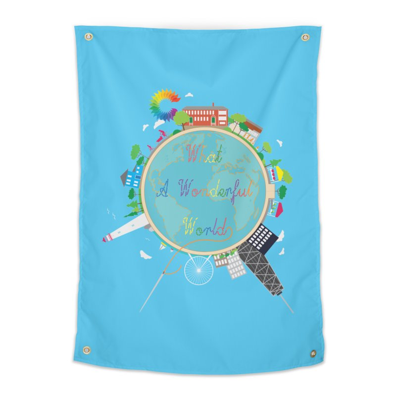What A Wonderful World Home Tapestry by Chiaravalle Montessori Spirit Shop