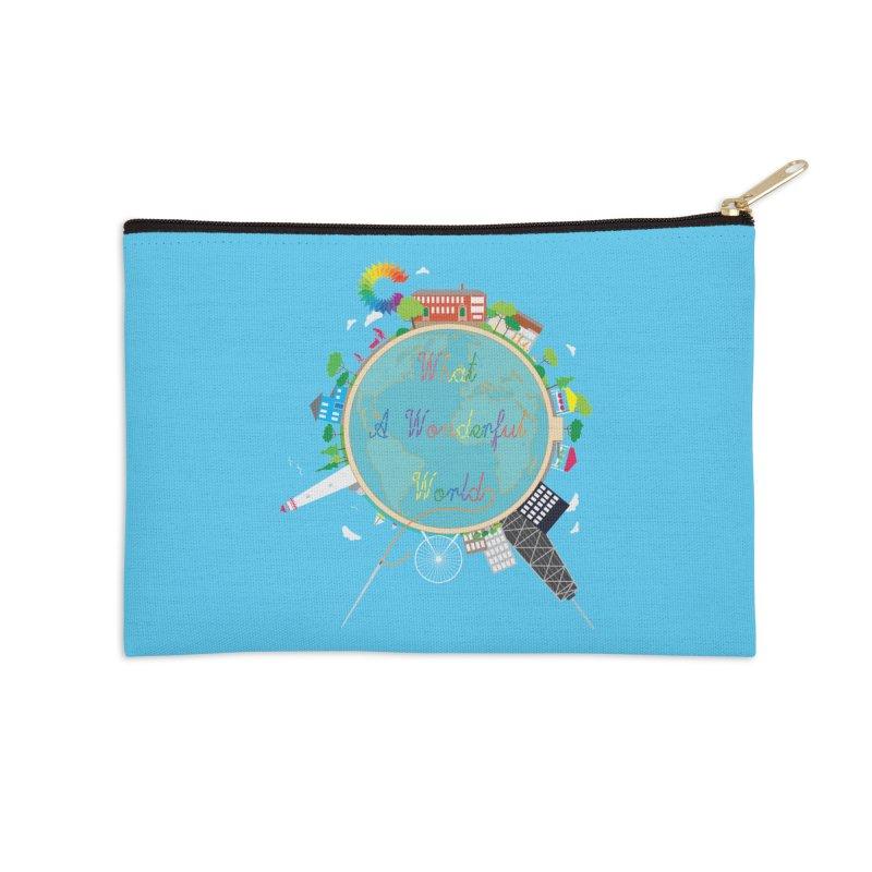 What A Wonderful World Accessories Zip Pouch by Chiaravalle Montessori Spirit Shop